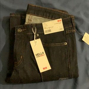 NWT uniqlo straight jeans denim size 27 FREE